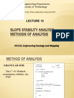 L10 Slope Stability - Method of Analysis