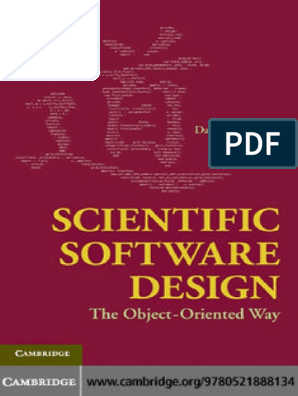 Scientific Software Design The Object Oriented Way Pdf Object Oriented Programming Software Development