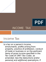 Income Tax Requirements