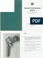 Automatic Pistol Neuhausen SP 47-8 (Sig P210) Manual