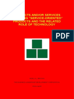 """Products And/Or Services - Defining """"Service-Oriented"""" Products and the Related Role of Technology"""
