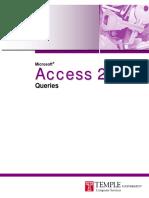 Access 2010 Queries