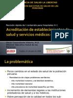 Acreditacion en los Servicios de Salud