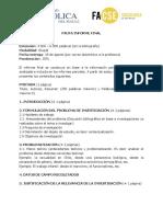 Pauta Informe Final Agosto 2016