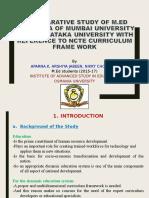 a comparative study of m.ed curriculum of mumbai university ,karnatak university and ncte