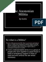 The Anononian Militia