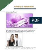 Noviazgo y Matrimonio