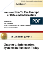 BB102 - Lecture 1 - Introduction to the Concept of Data and Information (UPDATED 15.1.2015)