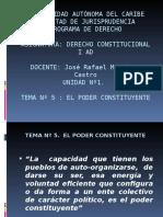 Tema No 5 El Poder Constituyente