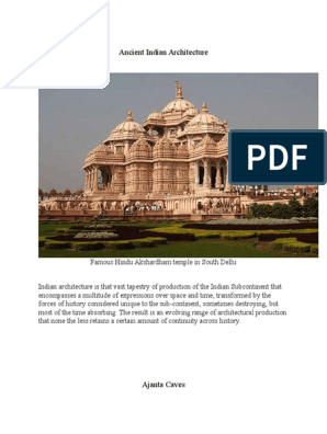 Ancient-Indian-Architecture-word docx | Archaeology