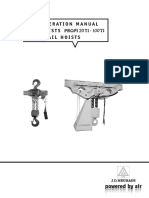 079--125 Ton Monorail Air Hoist User Manual