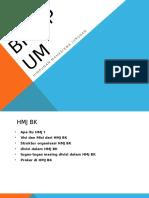 Struktur Kepengurusan HMJ BK UM