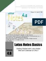 Lotus Notes Basics Manual