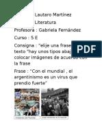 Trabajo de Literatura Lautaro Martinez 5E (1)