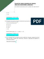 Ejercicios Resueltos Para Examen de Grado 7 Problemas de Ecuaciones Lineales