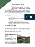 Ecosistemas de Tacna