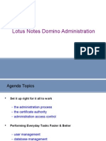 Lotus Notes Domino Administration  Rakesh