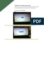 Berikut Cara Instal Windows 7 Pada Lenovo G40
