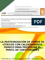 La Pasteurización Ohmica