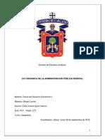 Ley Orgánica de Administración Pública Federal Exposicion