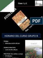 Clase 1 y 2 Ecología 2016