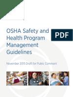 OSHA SHPM Guidelines