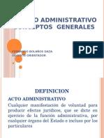 El Acto Administrativo- Conceptos Grales