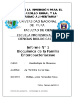 informe 1 Enterobacteriaceae