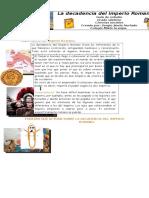 La Decadencia Del Imperio Romano. Guía de Estudio.