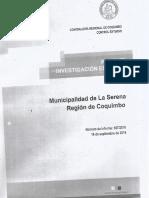Investigación Especial Contraloria 687 Municipalidad de La Serena