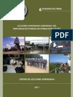 6 Lecciones Aprendidas Derivadas Del Despliegue de Fuerzas Nacionales en Operaciones de Paz