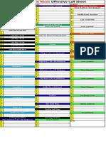 Blank Call Sheet