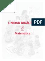 u3 3er Grado Unidad Didactica Mate