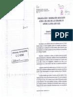 Armando de Ramon, Urbanizacion y Dominacion, Reflexion Acerca Del Rol de Las Ciudades en America Latina