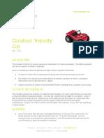 Constant Velocity Cars