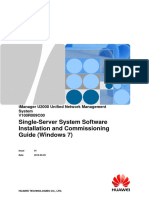IManager U2000 Single-Server System Software Installation and Commissioning Guide (Windows 7)V1.0