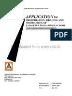 Contractor's Application to CIDA  (English)