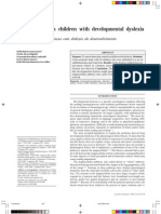 Visual Control in Children With Developmental Dylexia
