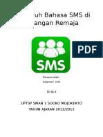 Pengaruh Bahasa SMS di Kalangan Remaja