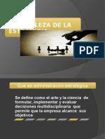 Tema 1 y 2 La naturaleza de la administración estrategica  .pptx