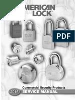 American Lock A-004 Service Manual