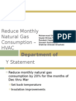 Reduce Natural Gas Consumption