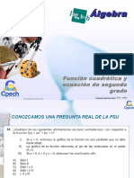 Clase 24 Función Cuadrática y Ecuación de Segundo Grado 2011 OK