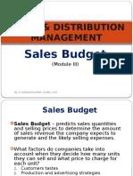 Sales Budget (SDM III)