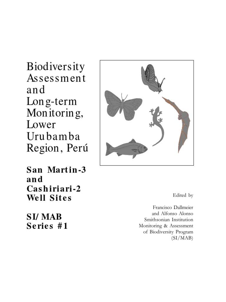 Biodiversity Assessment and Long-term Monitoring, Lower Urubamba ...