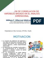 Prediccion de Correlacion de Variables basado en el Analisis Dimensional