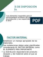 Factores de Disposición de Planta