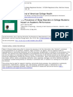 [Penting] Journal of American College Health Volume 59 Issue 2 2010 [Doi 10.1080_07448481.2010.483708] Gaultney, Jane F. -- The Prevalence of Sleep Disorders in College Students- Impact on Academic Performanc