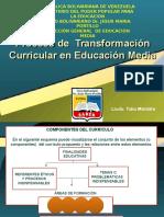 Transformación Curricular Educación Media