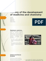 History of the Development of Medicine and Chemistry
